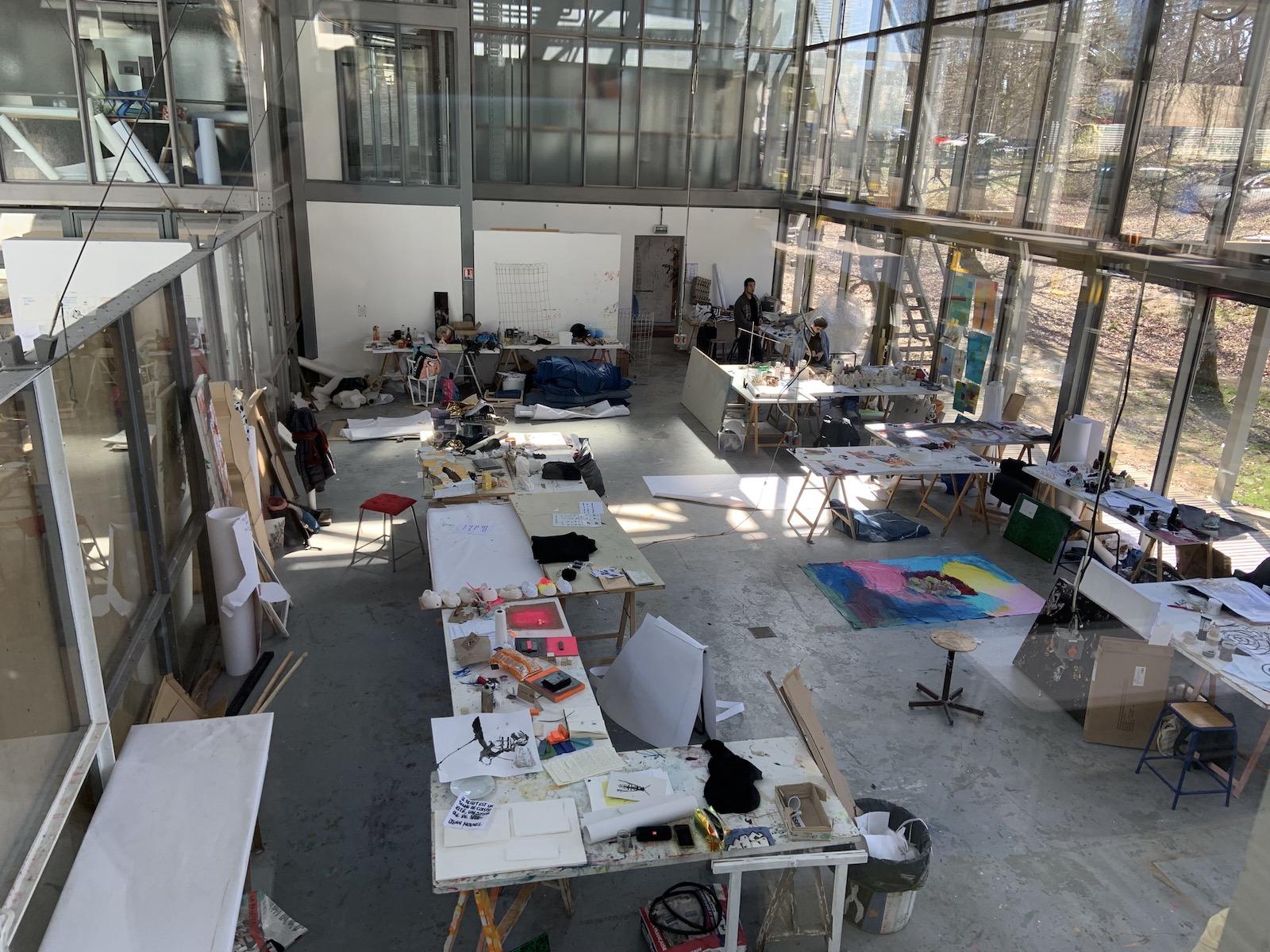Atelier commun à l'école nationale supérieure d'art de limoges.