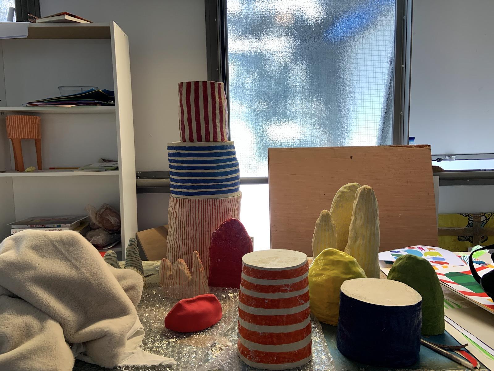Atelier sculpture à l'école nationale supérieure d'art de limoges.