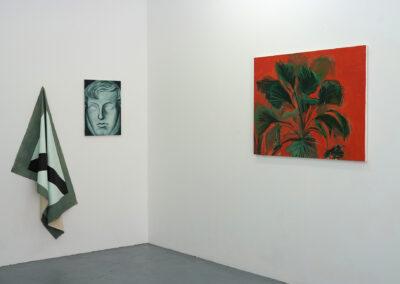 Vue de l'exposition <i>Violet de France</i> de Johann Milh chez BAM projects (juin 2019). Photo © BAM projects