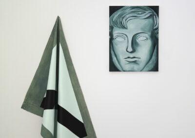 Vue de l'exposition <i>Violet de France</i> de Johann Milh chez BAM projects (juin 2019)