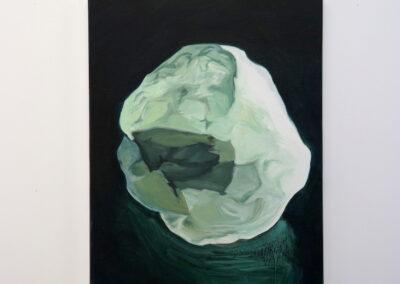 Johann Milh, <i>Sans titre (cailloux)</i>, 2019, huile sur toile, 60,5 x 45 cm Photo © BAM projects
