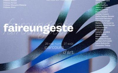 Save the date : faireungeste, parcours d'art